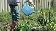 Little Gardener on Smallholder Farm Stock Footage