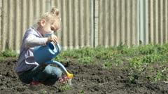 Little Gardener on Smallholder Farm Stock Footage