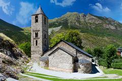 romanesque church of sant joan de boi, catalonia, spain - stock photo
