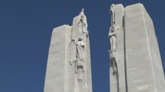 Twin pylons, Canadian National Vimy Memorial, Vimy, Pas-de-Calais, France Stock Footage