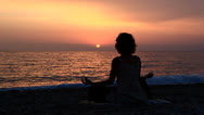 Stock Video Footage of Yoga pose on the beach