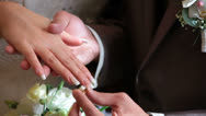 Wedding rings, Certificate And Bouquet Stock Footage