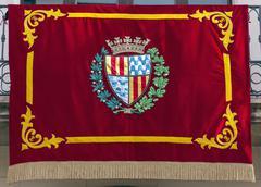 Flag gala badalona in diada Stock Photos