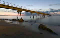 Pont del petroli de badalona Stock Photos
