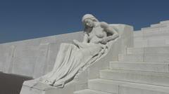 Canadian National Vimy Memorial, Vimy, Pas-de-Calais, France Stock Footage