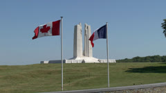 Canadian National Vimy Memorial, Vimy, Pas-de-Calais, France Stock Footage