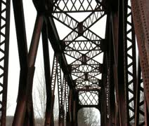 Olde iron bridge Stock Footage