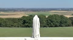 Mother Canada statue, Canadian National Vimy Memorial, Vimy Ridge, France Stock Footage