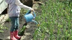 Child on Smallholder Farm Stock Footage