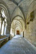 Monastery of santa maria de poblet cloister Stock Photos