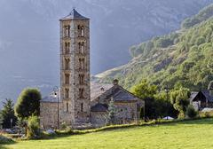 romanesque church of sant climent de taull, catalonia, spain - stock photo