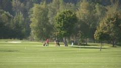 Golf play Stock Footage
