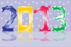 holiday new year - stock illustration