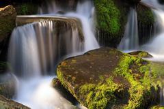 Smoky Mountain Cascade Stock Photos
