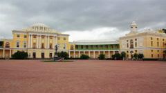 Grand palace in Pavlovsk park Saint-Petersburg Russia Stock Footage