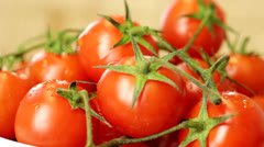 Ripe Cherry Tomatoes Rotating (looped) Stock Footage