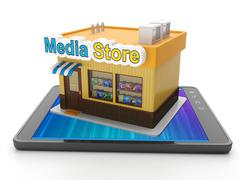 download mobile app for your tablet pc purchase - stock illustration