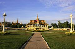 moonlight pavailion, royal palace, phnom penh, cambodia - stock photo