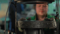 Manufacture. press metal Stock Footage