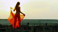 Stock Video Footage of Desert girl