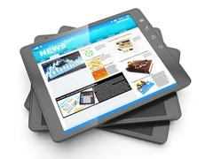 News from the internet, tablet pc and it fresh page navostey Stock Illustration