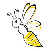 bee stylized - stock illustration