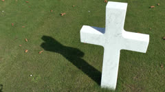 The World War I Somme American Cemetery & Memorial, Bony, France. - stock footage