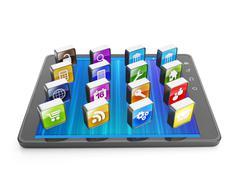 Luoda mobiilisovelluksia mobiiliteknologiaa. Piirros