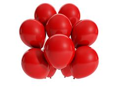 3d illustration: holiday vacation, a group of balloons Stock Illustration