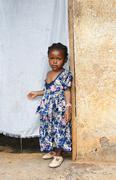 Serious little african girl Stock Photos