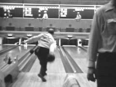 1949 ABC Bowling Tournament in Detroit #3 Stock Footage