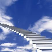 the stairway to heaven - stock illustration