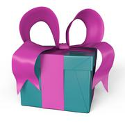 my gift in pink and turquoise - stock illustration