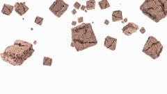 Falling brownies Stock Footage