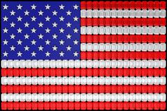 usa flag assembled of diamonds - stock illustration