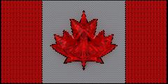 canada flag assembled of diamonds - stock illustration