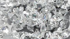 diamond background. large group of jewels - stock photo