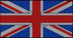 Britannian lippu Union Jack koottu timantteja Kuvituskuvat