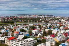 Capital of iceland, reykjavik, view Stock Photos