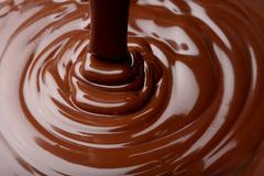 chocolate flow - stock photo