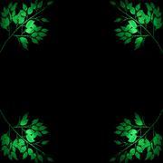 CORNER GREEN LEAF - stock illustration