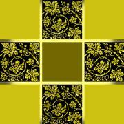 CORNER GOLD MOSAIC - stock illustration