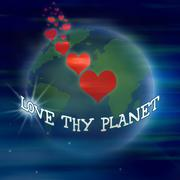 Love thy planet - stock illustration