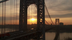 George Washington Bridge Sunrise 2 - stock footage