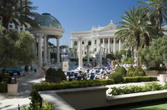 las vegas - Caesars palace poolside - stock photo