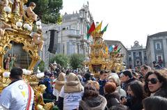 religious event (saint agath) - stock photo