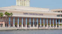 Tampa Convention Center Close Stock Footage