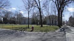 Pan across Canon Green, Princeton Stock Footage