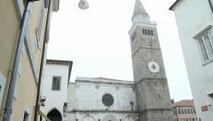 Koper Cathedral, Slovenia Stock Footage