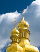 Stock Photo of ukraine, golden cupola of orthodox church